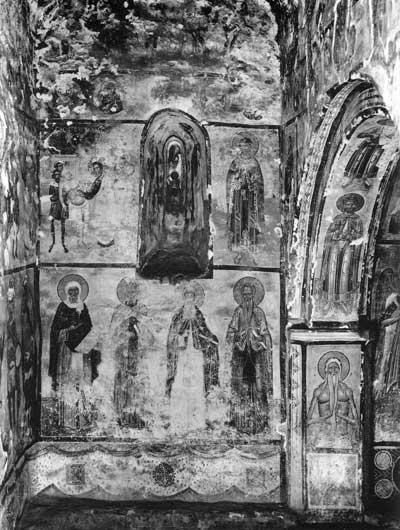 Евангельские сцены, мученики, преподобные и отшельники