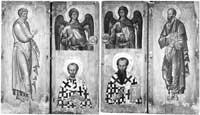 Апостолы Петр и Павел, архангелы Михаил и Гавриил, Иоанн Златоуст и Василий Великий