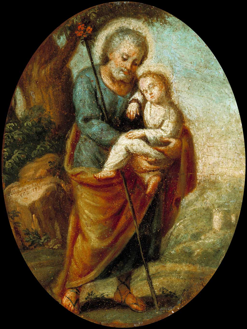 Иосиф с младенцем Христом