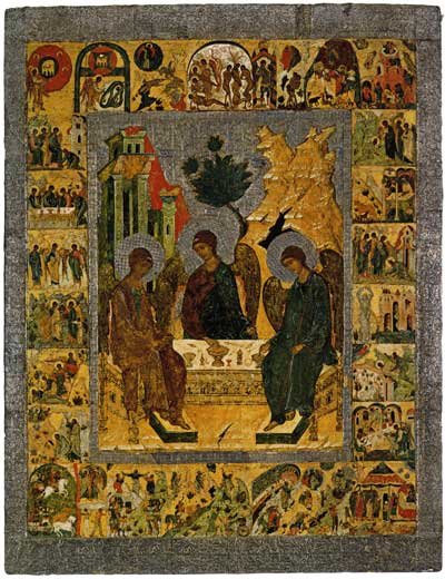 Троица Ветхозаветная, с деяниями в 24 клеймах