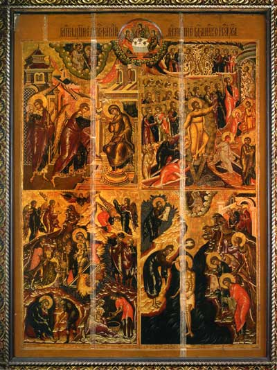 Благовещение. Рождество Христово. Воскресение — Сошествие во ад. Богоявление