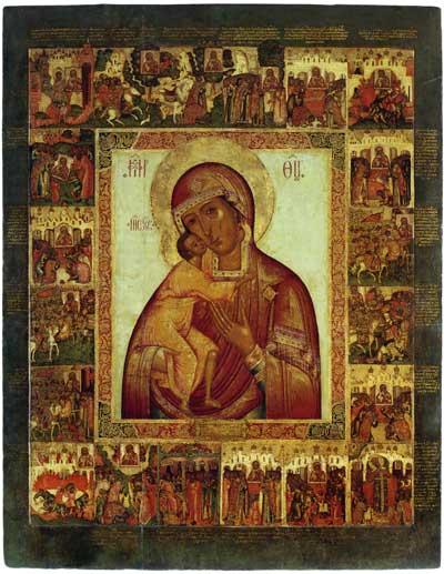 Феодоровская икона Богоматери, со Сказанием