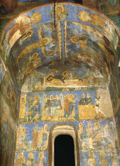 Фрески в северной части храма