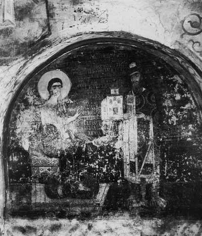 Князь Ярослав Всеволодович, подносящий храм Христу
