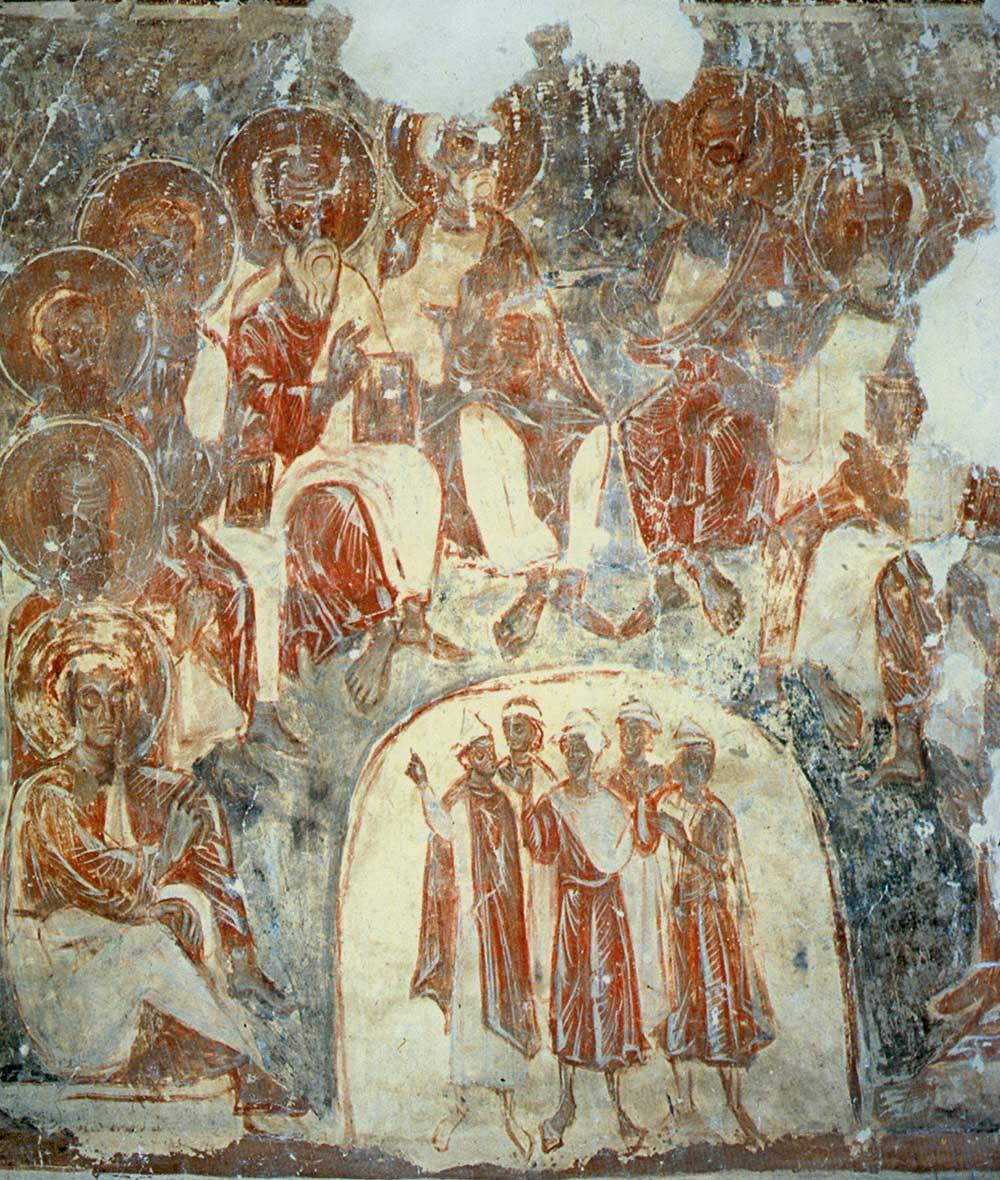 Роспись собора рождества богородицы снетогорского монастыря
