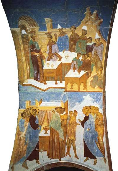 Притча о брачном пире, Лепта вдовицы и Исцеление двух иерихонских слепцов