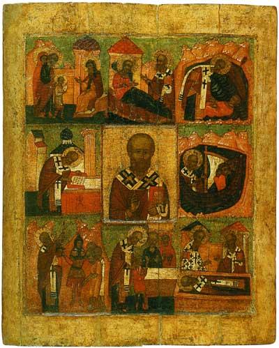 Святитель Николай Чудотворец, с житием (Никола Великорецкий)