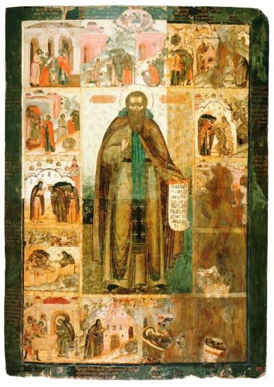 Феодосий Печерский, с житием в 14 клеймах
