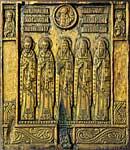 Ростовские святые с Николаем Чудотворцем, Спасом Еммануилом и избранными святыми