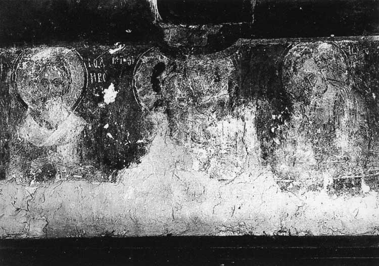 Христос во гробе с предстоящими св.Родионом и Иоанном Богословом