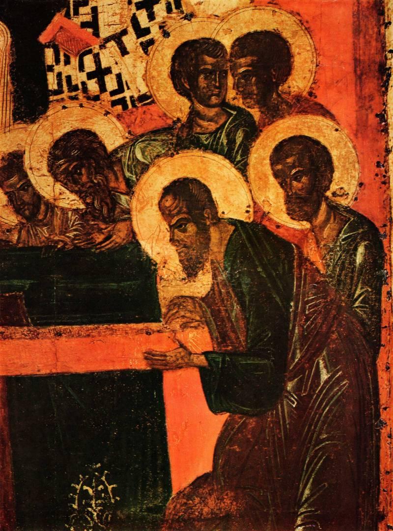 Апостолы у ложа Богоматери