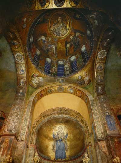 Мозаики центрального купола и головной апсиды