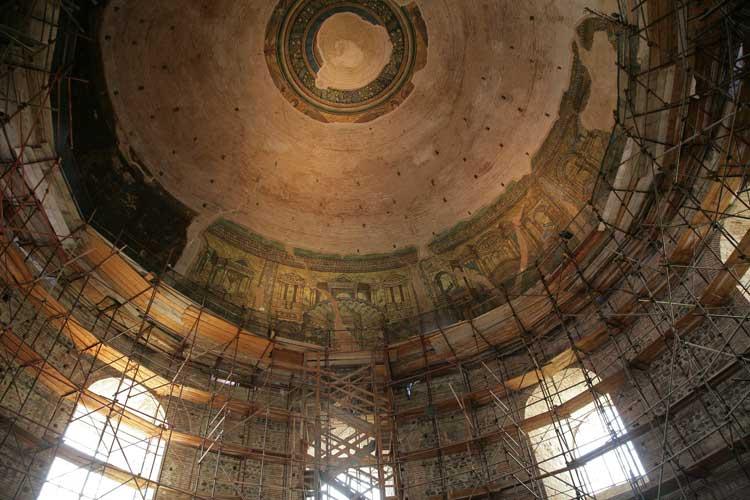 Общий вид мозаик купола
