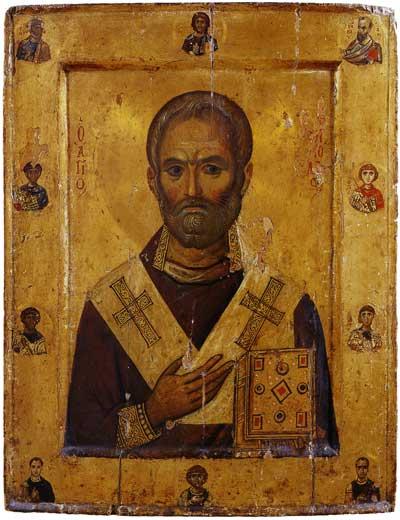 Святитель Николай Чудотворец, со святыми на полях