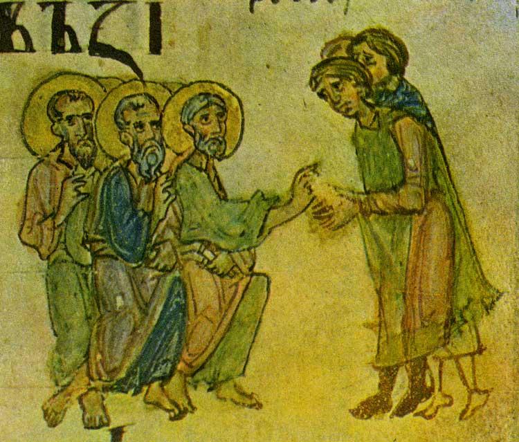 Проповедь апостолов - Симоновская псалтирь (Хлудовская славянская псалтирь) [Хлуд. 3], л. 134