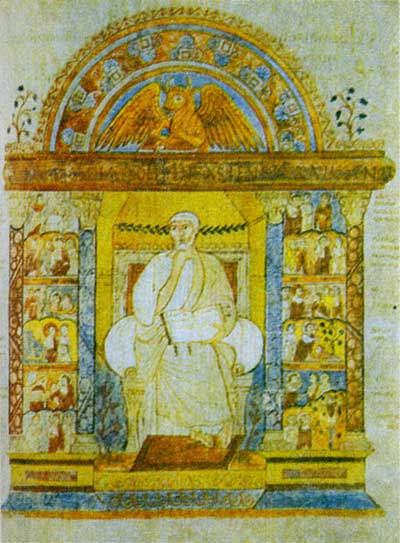 Евангелист Лука - Евангелие архиепископа Августина [Cantabr. S. Trin. Ms. 286],