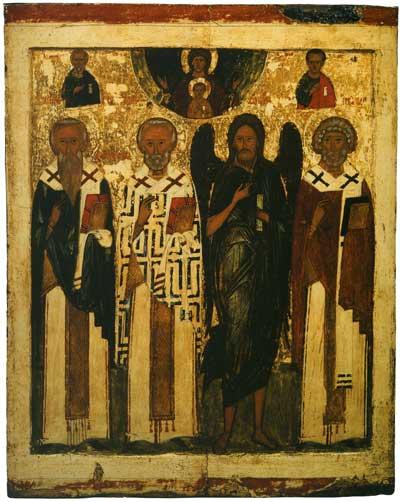 Василий Великий, Николай Чудотворец, Иоанн Предтеча, Лев, Папа Римский