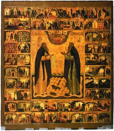 Преподобные Зосима и Савватий Соловецкие с житием