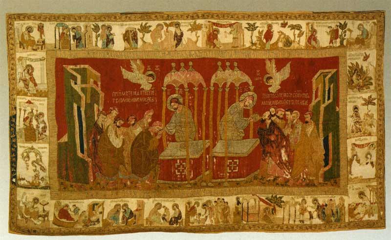 Евхаристия с житиями Иоакима, Анны и Богоматери («Суздальский воздух»)