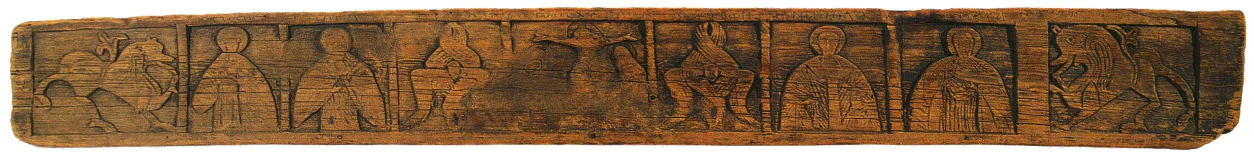 Распятие и святые Георгий, Илия, Никола, Варвара