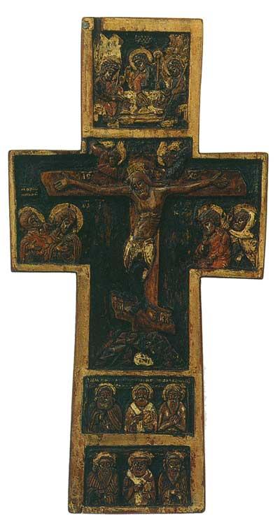 Распятие с предстоящими и избранными святыми