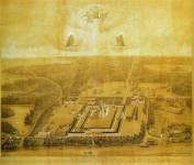 Вид на Валаамский монастырь сверху
