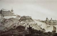 Вид Мирожского монастыря