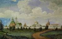 Вид Иркутского Вознесенского монастыря от реки Ангары
