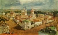 Вид Богоявленского Анастасиева монастыря в городе Костроме