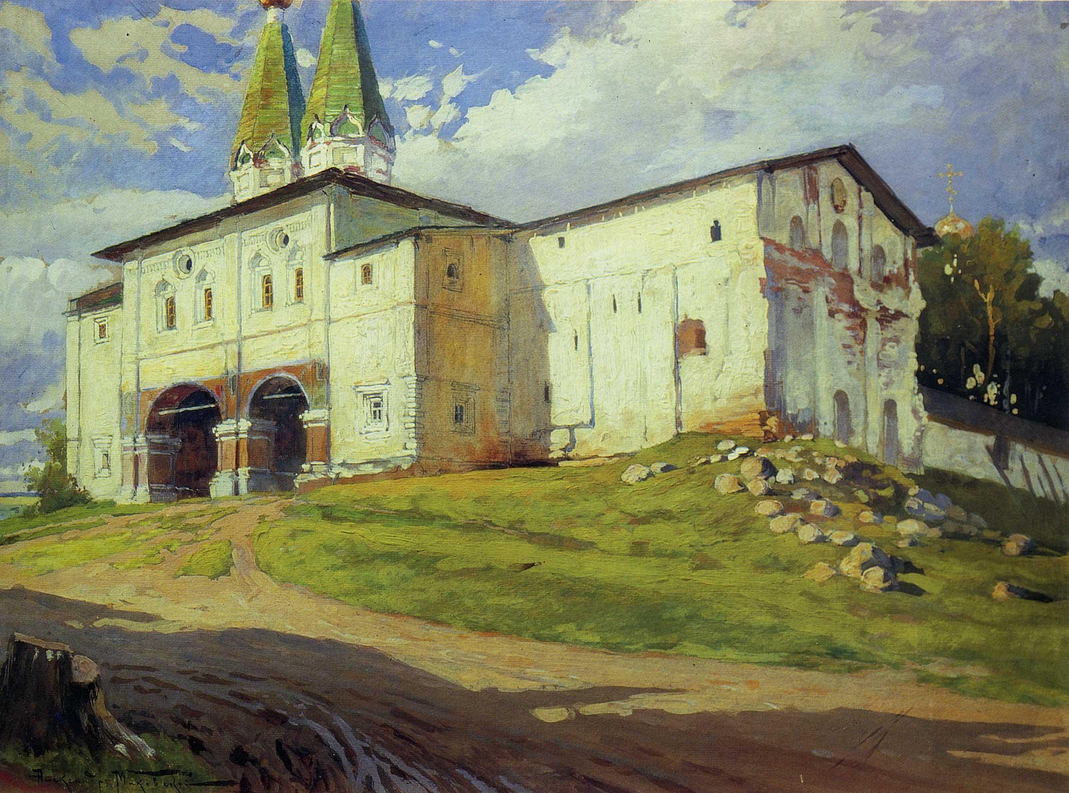 Надвратная церковь Богоявления в Ферапонтовом монастыре