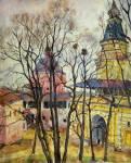 Весна. Плотничья и Каличья башни Троице-Сергиевой лавры