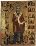 Свт. Николай, с житием и фигурами донаторов