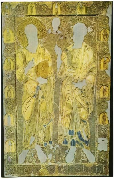 Оклад иконы «Апостолы Петр и Павел»