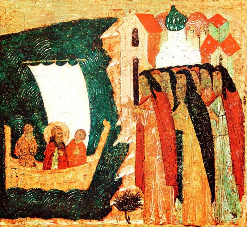 Возвращение Зосимы в монастырь после поставления в игумены