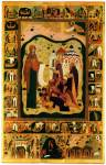 Богоматерь Боголюбская, с житием свв. Зосимы и Савватия Соловецких