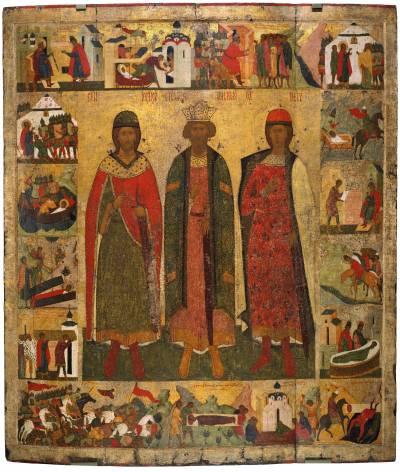 Святые Владимир, Борис и Глеб, с житием Бориса и Глеба