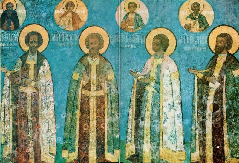 Князья Василий Косой, Юрий Звенигородский, Дмитрий Красный и Андрей Дмитриевич