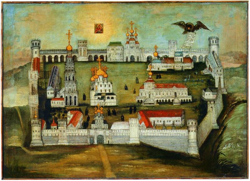 Вид Новодевичьего монастыря