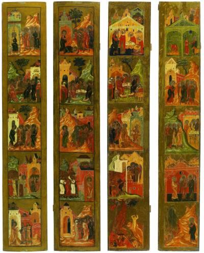 Створки со сценами Деяний Святой Троицы