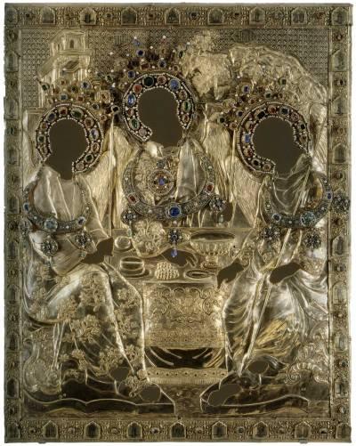 Оклад иконы Святой Троицы письма Андрея Рублева