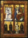 Апостол Фаддей и царь Авгарь, с избранными святыми
