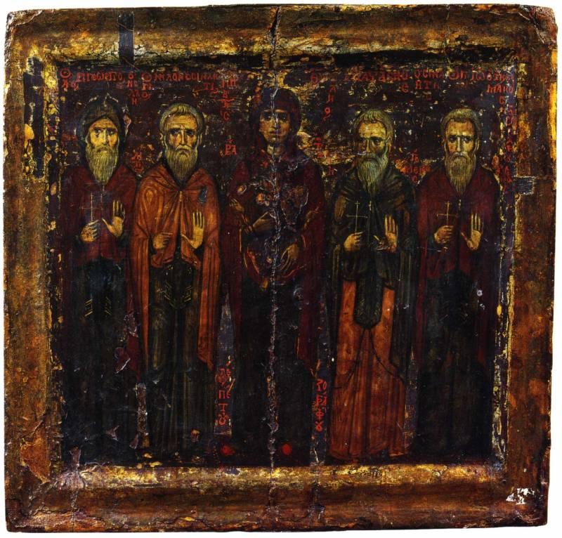 Богоматерь и четверо святых