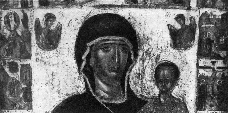 Богоматерь Одигитрия, с  евангельскими сценами