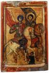 Георгий Диасорит и Феодор Стратилат на конях