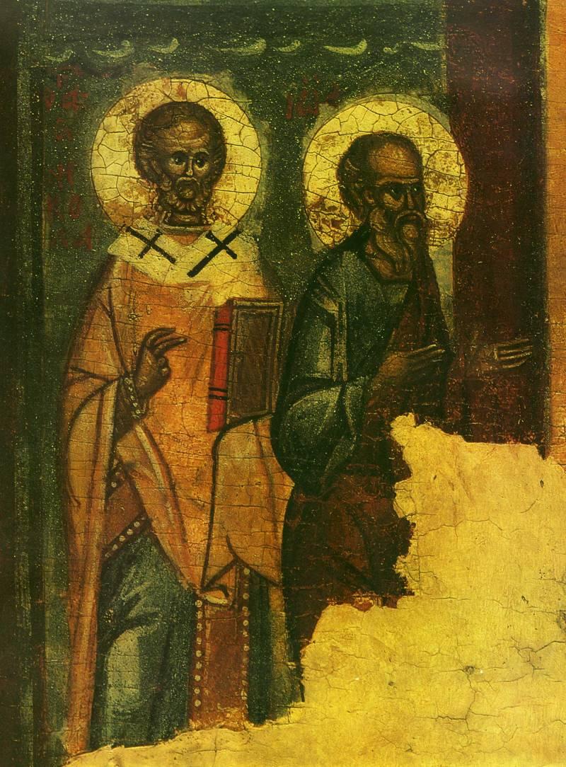 Николай Чудотворец и апостол Павел (?)