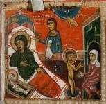 [Илл. с. 301] Кат. № 13. Клеймо. Рождество Николы