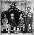 [Илл. с. 310] Кат. № 13. Клеймо. Явление Николы «трем мужам» в темнице