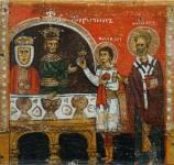[Илл. с. 314] Кат. № 13. Клеймо. Избавление Василия от сарацин