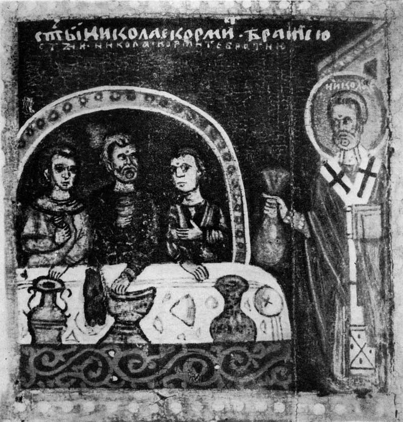 Клеймо «Никола кормит братию»