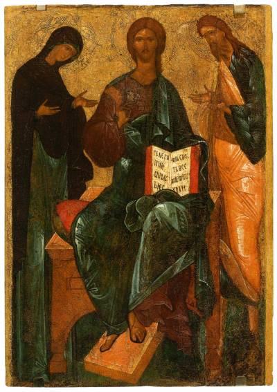 Спас на престоле с предстоящими Богоматерью и Иоанном Предтечей